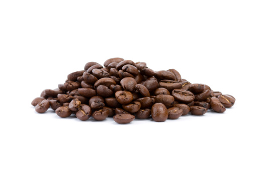 Roasted「coffee beans isolated on white」:スマホ壁紙(8)