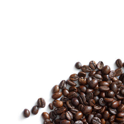 Crop - Plant「Coffee beans isolated on white background」:スマホ壁紙(17)