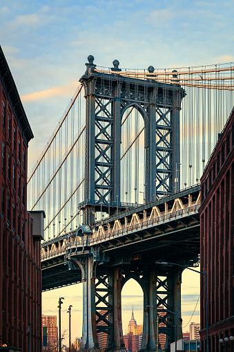 City Street「Manhattan Bridge, NYC - Dumbo Famous View」:スマホ壁紙(12)