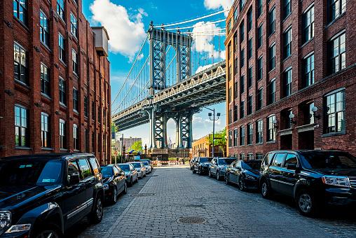 City Street「Manhattan Bridge, New York」:スマホ壁紙(17)
