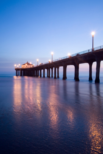 Manhattan Beach「Manhattan Beach Pier at Dusk」:スマホ壁紙(16)