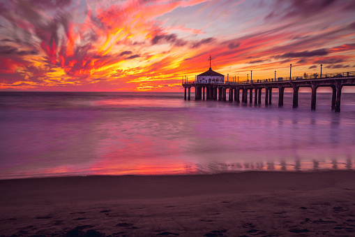 Manhattan Beach「Manhattan Beach Pier in California - Los Angeles」:スマホ壁紙(14)