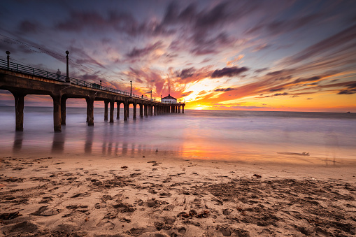 Coastline「Manhattan Beach Pier in California - Los Angeles」:スマホ壁紙(14)
