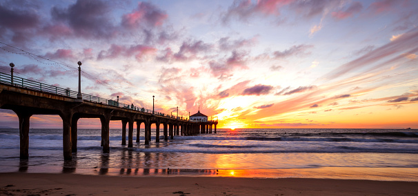 Manhattan Beach「Manhattan Beach Pier in California - Los Angeles」:スマホ壁紙(4)