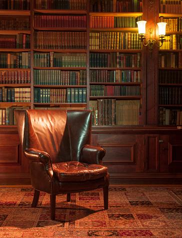 Armchair「Leather chair in study」:スマホ壁紙(0)