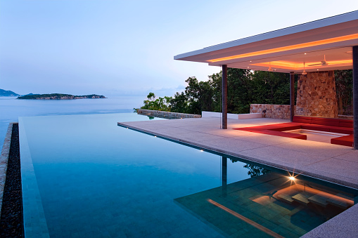Infinity Pool「Island Villa At Sunrise」:スマホ壁紙(11)