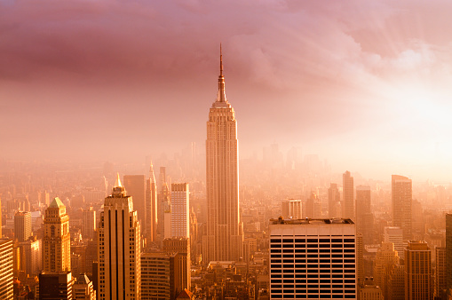 Empire State Building「NYC Skyline at Sunset」:スマホ壁紙(18)