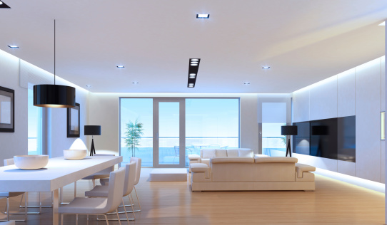 Villa「Luxury Penthouse Interior」:スマホ壁紙(12)