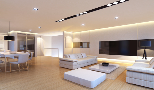Living Room「Luxury Penthouse Interior」:スマホ壁紙(13)