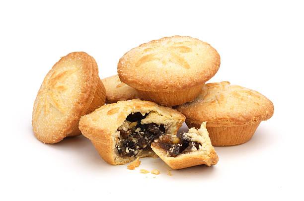 Mince pies on white:スマホ壁紙(壁紙.com)