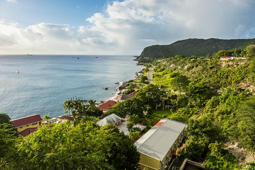 St「Caribbean, Netherland Antilles, St. Eustatius, Oranjestad bay」:スマホ壁紙(13)