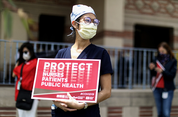Nurse「Health Care Workers Protest Lack Of PPE In Southern California」:写真・画像(16)[壁紙.com]