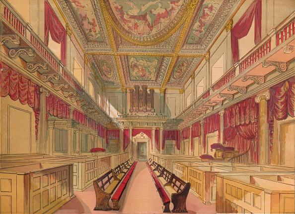 Ceiling「'Whitehall Chapel', c1845,」:写真・画像(6)[壁紙.com]