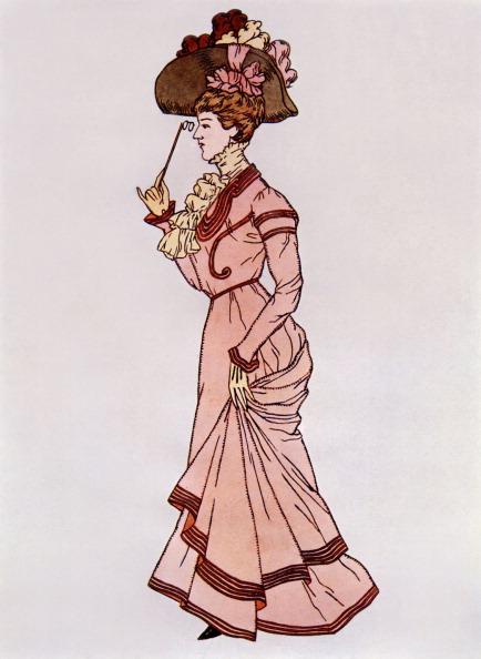 絵「Lady wearing a 'walking costume', c.1900」:写真・画像(14)[壁紙.com]