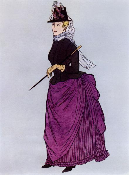 絵「Lady wearing a 'walking costume'」:写真・画像(12)[壁紙.com]