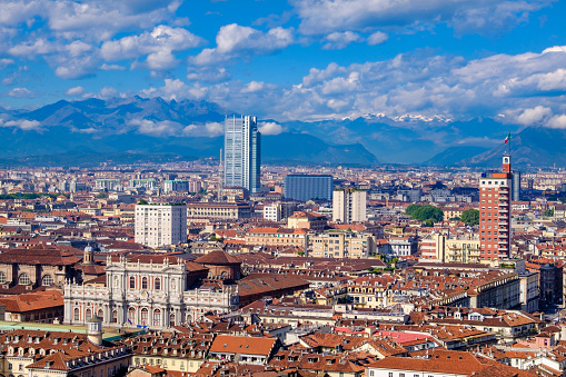 Piedmont - Italy「Turin seen from above. Piedmont, northern Italy」:スマホ壁紙(17)