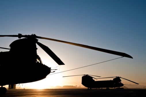 CH-47 Chinook「Chinook Helicopter Silhouette Sunrise」:スマホ壁紙(10)