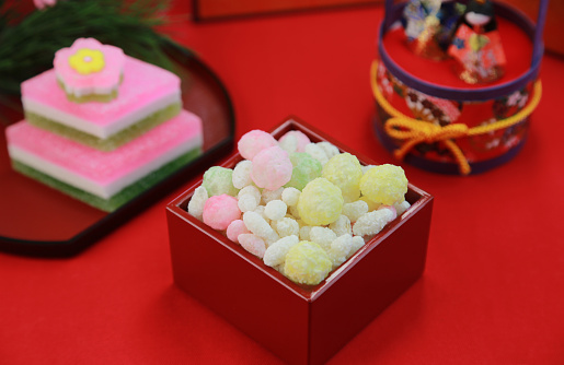 ひな祭り「Hina arare (Traditional sweet for Girls day in Japan)」:スマホ壁紙(15)