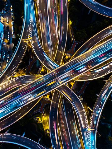Vertical「Highway junction aerial view」:スマホ壁紙(10)