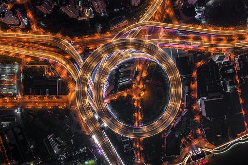 Elevated Road「Highway junction aerial view」:スマホ壁紙(19)