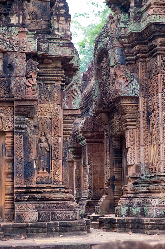 寺「Banteay Srei Temple, Cambodia」:スマホ壁紙(19)