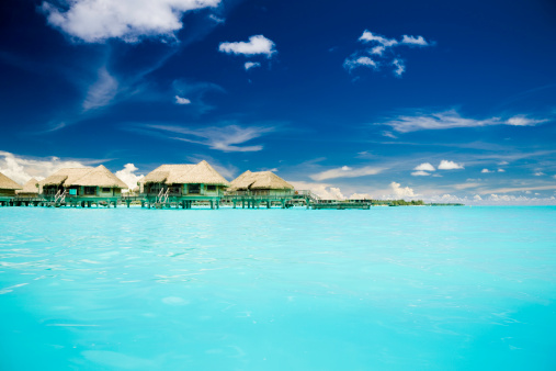 Water Surface「Vacation Cottages on Caribbean Ocean」:スマホ壁紙(8)