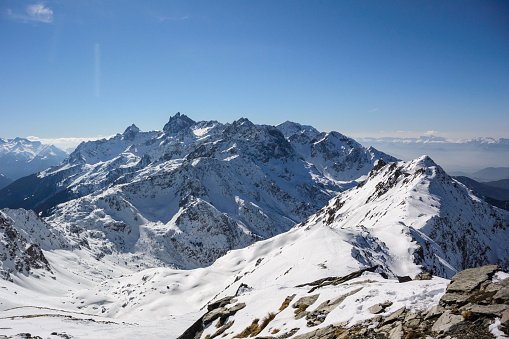 雪景色「冬の山の風景」:スマホ壁紙(0)