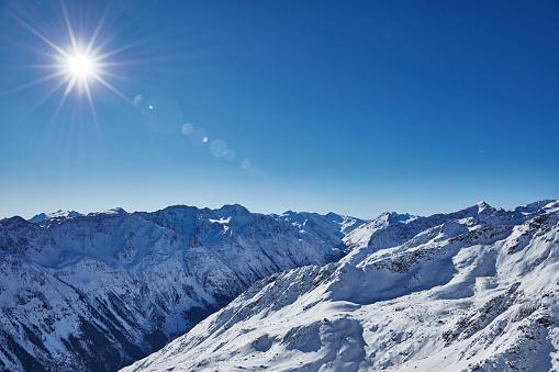 雪山「WInter Mountain Panorama」:スマホ壁紙(8)