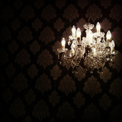 19th Century「Glowing Chandelier Hanging in Darkness」:スマホ壁紙(16)