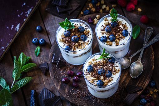 Snack「Yogurt with granola, berry fruits and chocolate」:スマホ壁紙(11)
