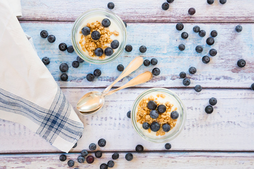 Granola「Yogurt with granola and blueberries」:スマホ壁紙(4)