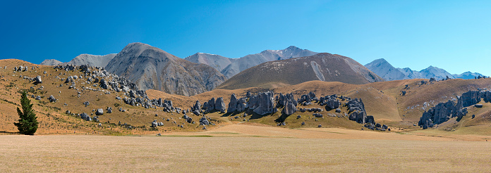 High Country「New Zealand, South Island, limestone boulders of Castle Hill and the Craigieburn Range in the High Country」:スマホ壁紙(16)