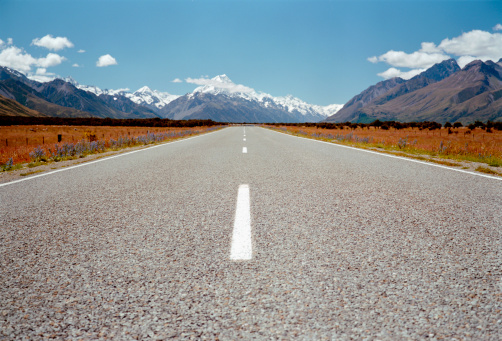 Mt Cook「New Zealand, South Island, country road towards Mount Cook」:スマホ壁紙(9)