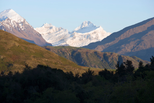 Mt Aspiring「New Zealand, South Island, landscape with Mount Aspiring snow-covered」:スマホ壁紙(4)