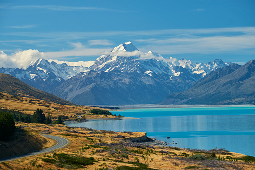 Mt Cook「New Zealand, South Island, Lake Pukaki, Mount Cook」:スマホ壁紙(15)
