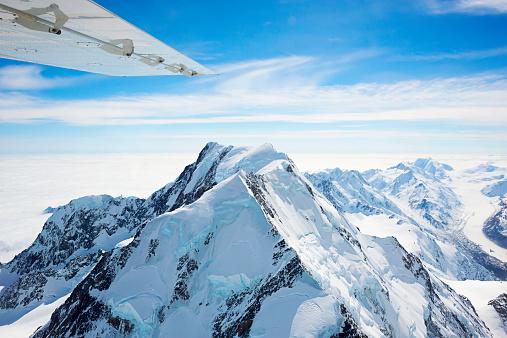 Mt Cook「New Zealand, Mont Cook seen from plane」:スマホ壁紙(19)