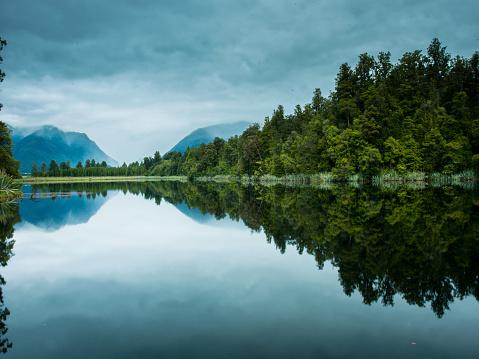 Lake Matheson「New Zealand's south island mather sen lake」:スマホ壁紙(8)