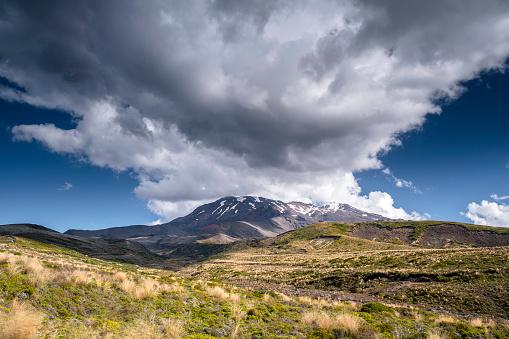 New Zealand「New Zealand, Ruapehu District, Tongariro National Park, Mount Ruapehu, Mount Te Heuheu」:スマホ壁紙(2)