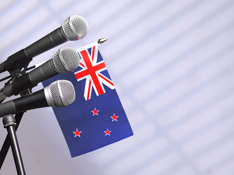 Party Conference「New Zealand flag and mics」:スマホ壁紙(7)