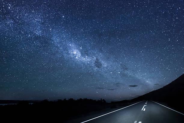 New Zealand, South Island, starry sky, milkyway at Lake Pukaki by night:スマホ壁紙(壁紙.com)