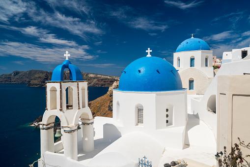 Caldera「typical greek architecture on santorini island」:スマホ壁紙(6)