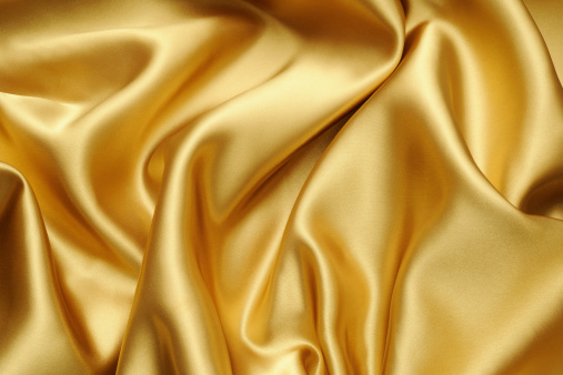 Silk「Crumpled gold satin texture background」:スマホ壁紙(1)