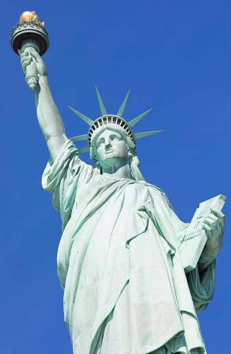 炎「Statue of Liberty, Liberty Island National Monument, Upper New York Bay, New York City, USA」:スマホ壁紙(11)