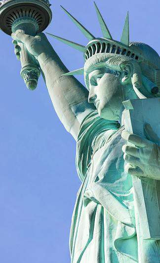 炎「Statue of Liberty, Liberty Island National Monument, Upper New York Bay, New York City, USA」:スマホ壁紙(14)