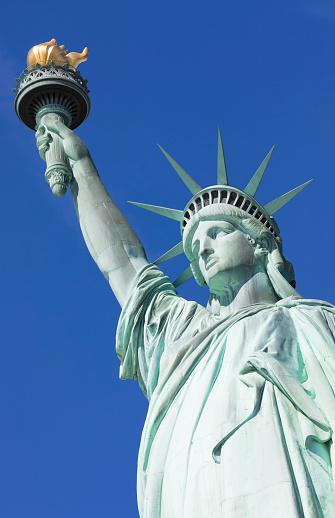 炎「Statue of Liberty, Liberty Island National Monument, Upper New York Bay, New York City, USA」:スマホ壁紙(13)