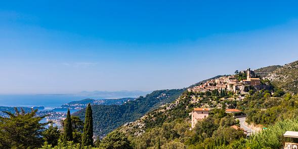 Mediterranean Sea「France, Provence-Alpes-Cote d'Azur, Eze, mountain village」:スマホ壁紙(18)