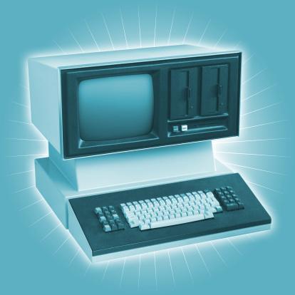 1980-1989「Really Old Funky Dinosaur Computer」:スマホ壁紙(13)