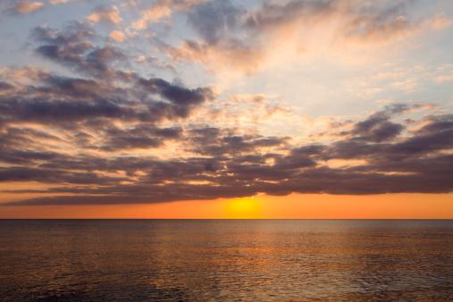 アイリッシュ海「Sunset over the Irish Sea」:スマホ壁紙(1)