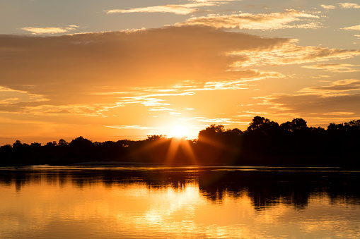 Chobe River「Sunset over Cubango River, Namibia, Africa」:スマホ壁紙(6)