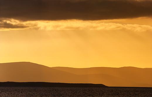 Falkland Islands「Sunset over the Falkland Islands, South Atlantic Ocean」:スマホ壁紙(16)